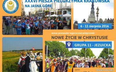 Piesza Pielgrzymka Krakowska na Jasną Górę (6-11.08.2016)
